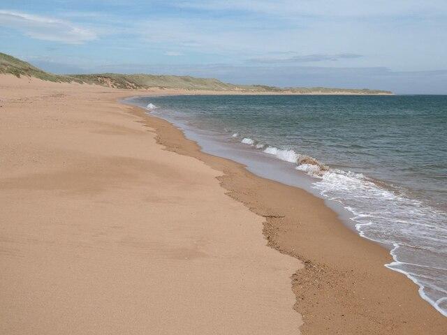 The beach at Craigewan