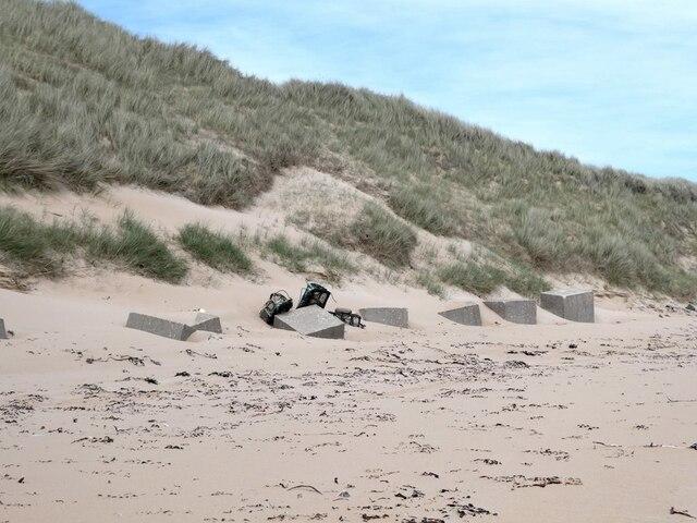 World War II anti-tank blocks near Kirkton Head