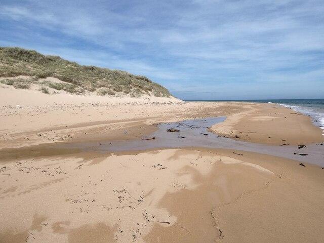 The beach at Kirkton Head