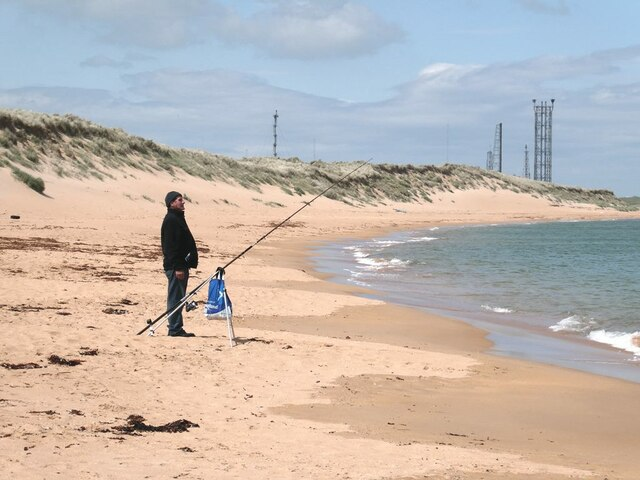 Angler on the beach