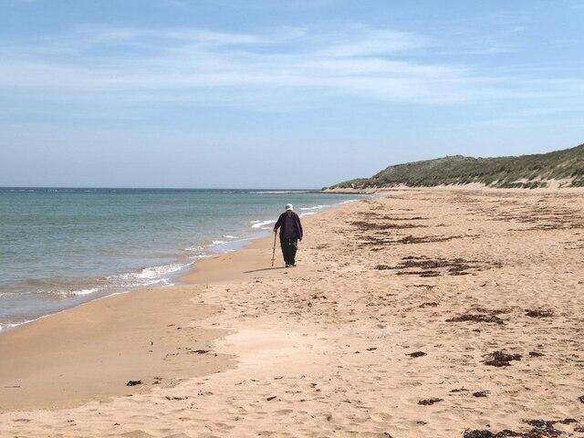 Beach north of Scotstown Head