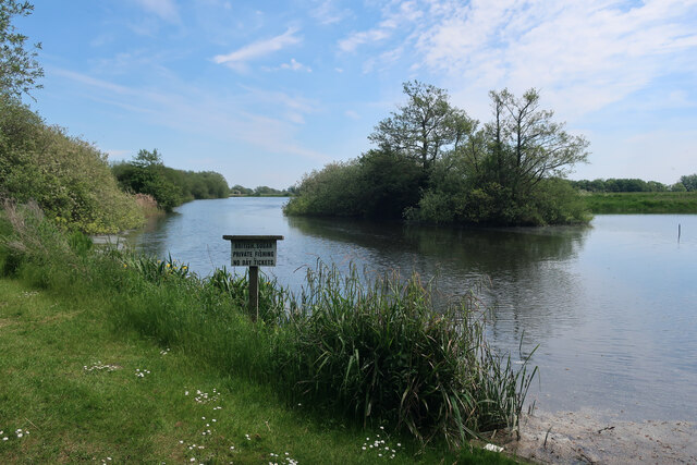 Wide part of the River Wissey