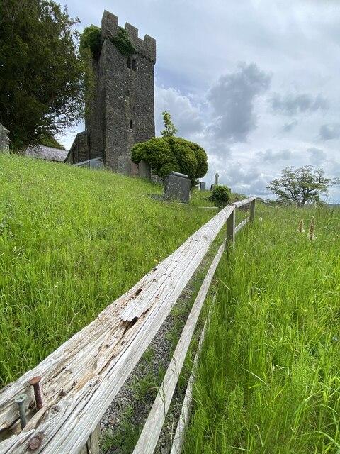 Rickety fence, Llangathen