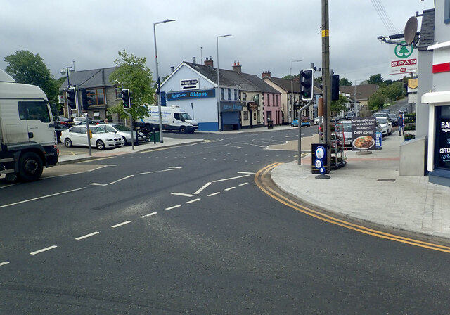 The junction of Rathfriland Road and Newry Road at Hilltown