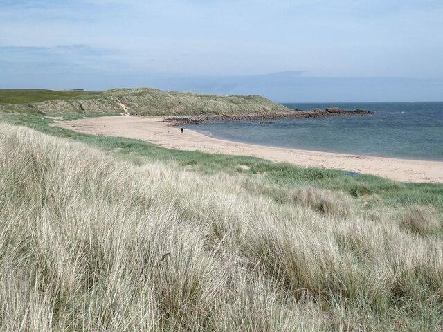 Beach south of the headland at Craigewan