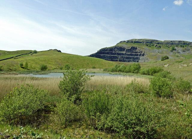 Restoration work at Dry Rigg Quarry