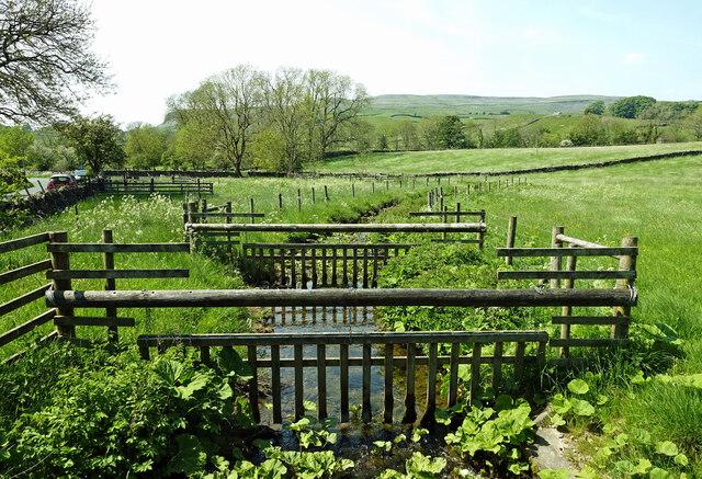 Gates on Wharfe Gill Sike
