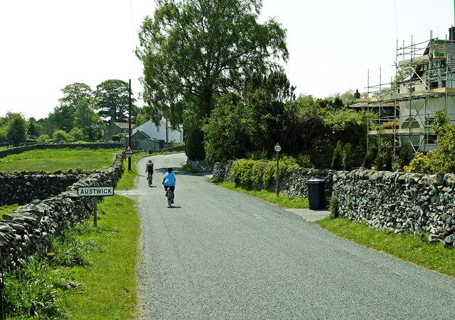 Entering Austwick