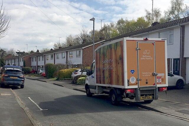 Grocery deliveries, Mercia Way, Warwick