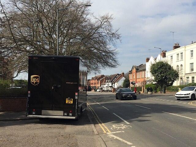 UPS deliveries, Coten End, Warwick