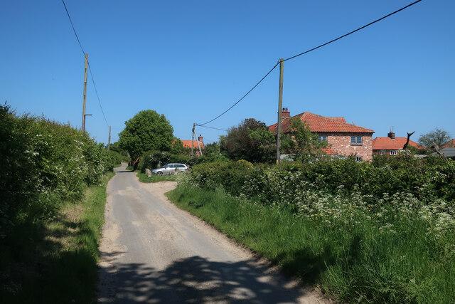 Church Road past Wickmere