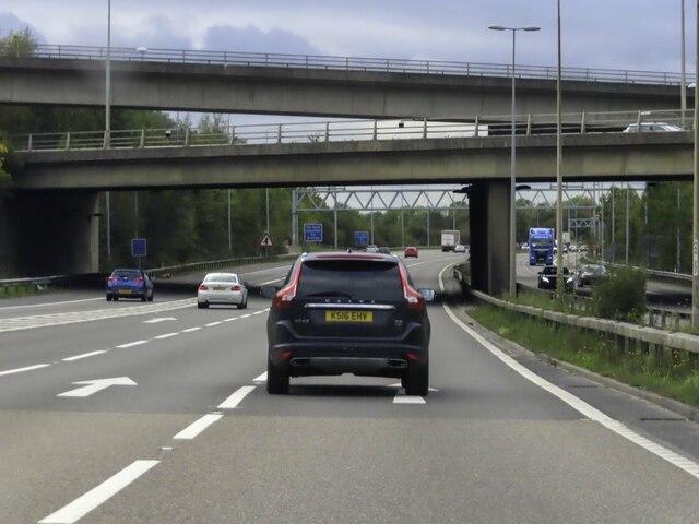 The M25 heading clockwise