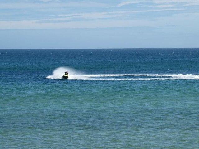 Jet ski on Fraserburgh Bay
