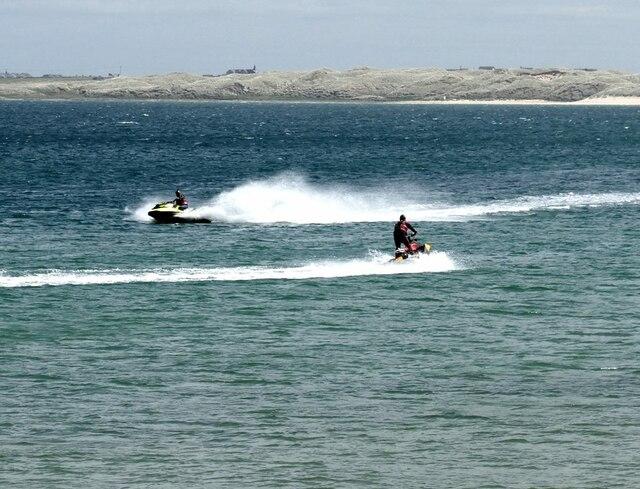 Jet skiers in Fraserburgh Bay