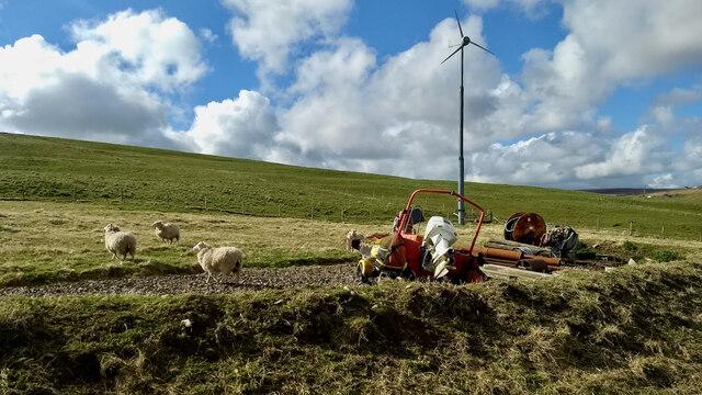 Wind turbine, Vishall Hill