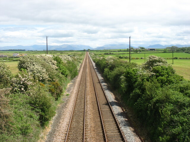 The main line from the port at Holyhead