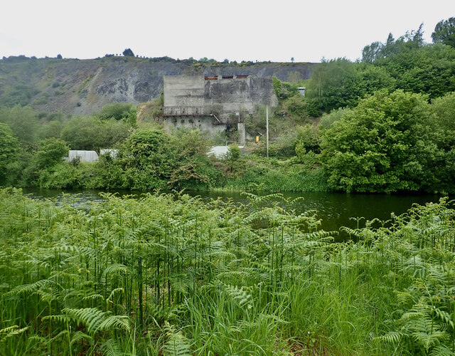 Disused crusher at Clady Quarries, Newry