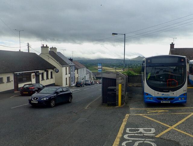 Downpatrick Street from the Rathfriland Bus Depot