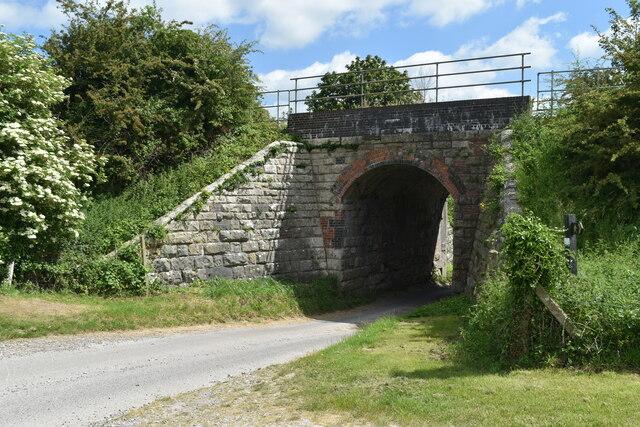 Farm track through railway arch south of Great Wishford