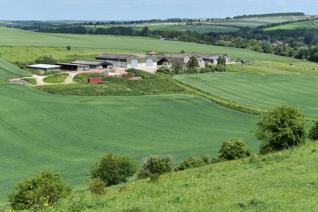 Farm buildings in valley