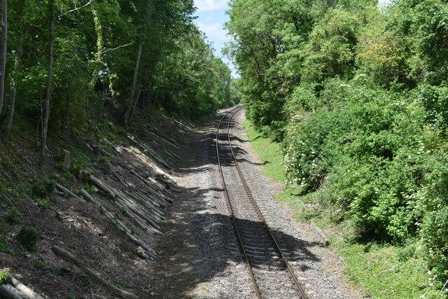 Railway cutting at North Burcombe