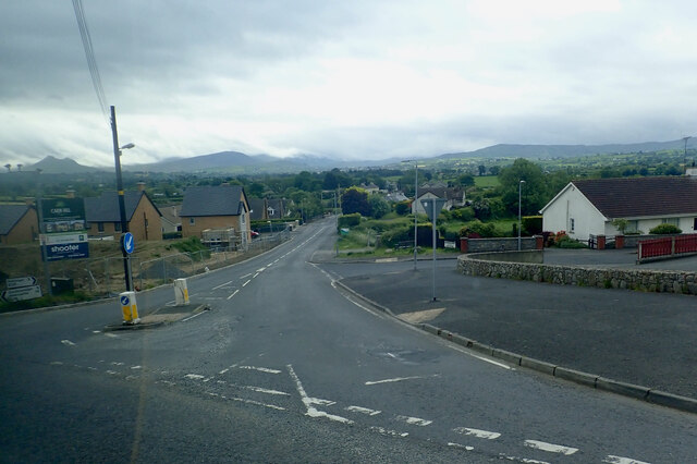 The northern end of Hilltown Road at Rathfriland