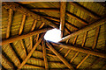 NH5966 : Reciprocal roof structure, the Octagonal Shelter, Mags Wood in Evanton Community Wood by Julian Paren