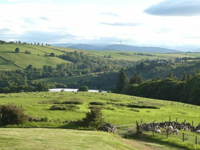 View west-south-west from Bonnington Farm