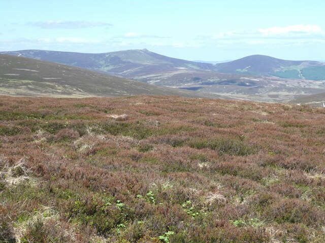 View north-north-west from Cairn O'Mount