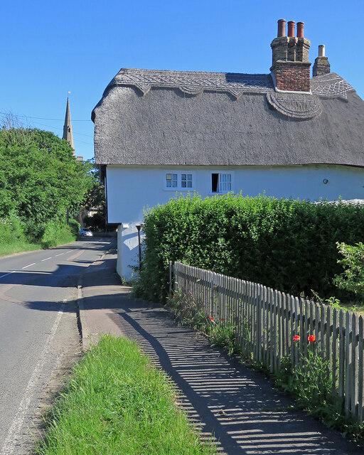 Landbeach: thatch and spire
