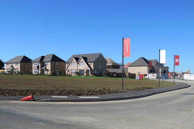 Cottenham: new houses off Rampton Road