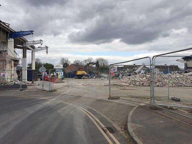 Demolition of Homebase store, Pickard Street, Warwick