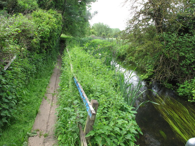 Shire Ditch and footpath with boardwalk, Uxbridge