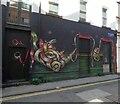 SJ8498 : Back Turner Street serpent by Gerald England