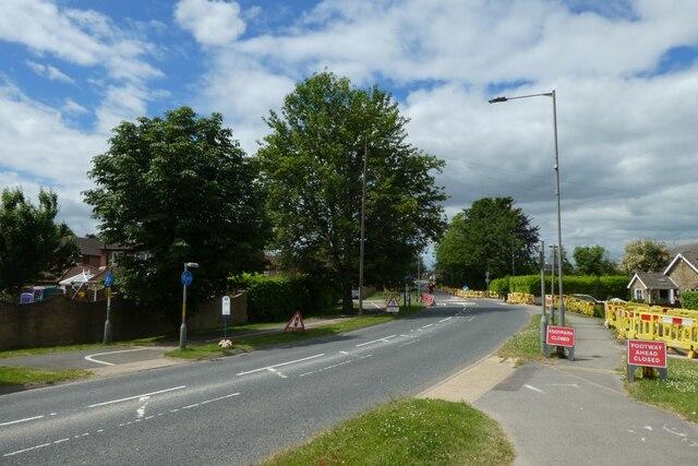 Roadworks on Moor Lane