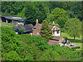SO7638 : Pink Cottage from the ridge walk on Swinyard Hill by Chris Allen