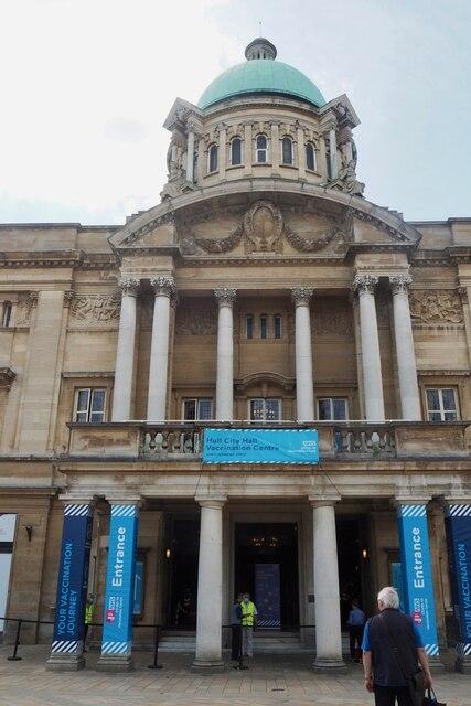 Hull City Hall - vaccination centre