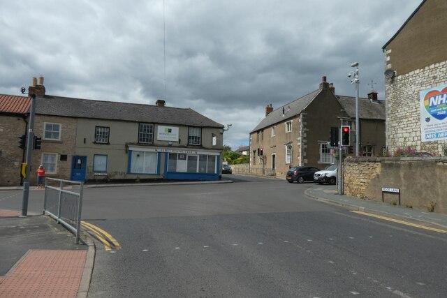 Moor Lane junction with Low Street