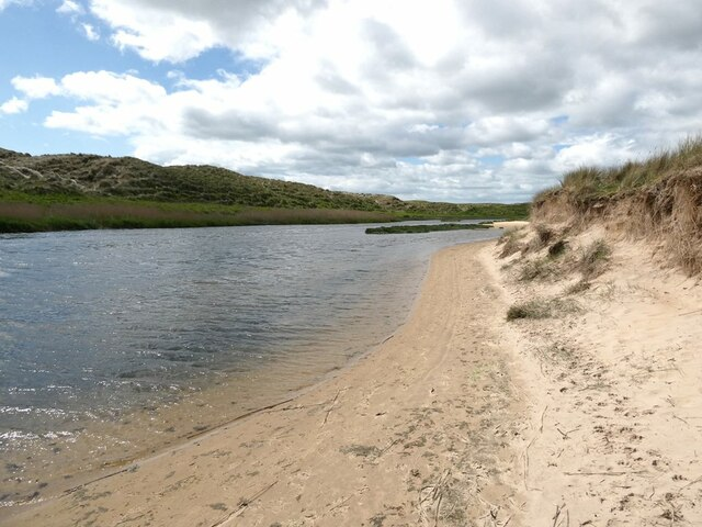 Beach on the estuary of the Water of Philorth