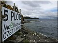 NR8770 : Advertising board, Port a' Ghuail, Argyll by Claire Pegrum