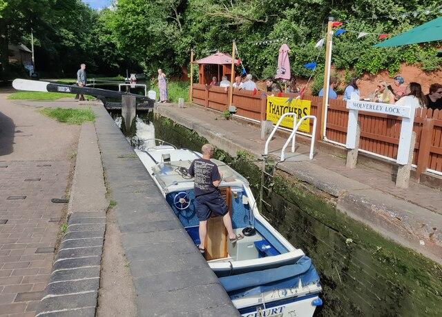 Boat in Wolverley Lock