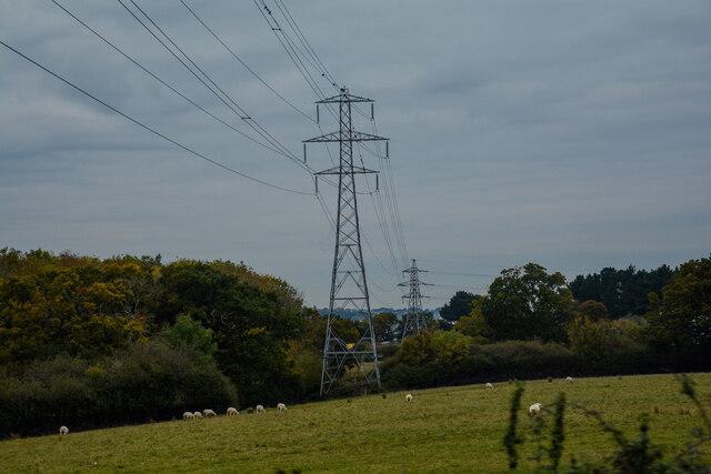 Newport : Grassy Field & Pylons by Lewis Clarke