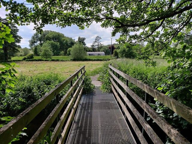 Footbridge across the River Stour