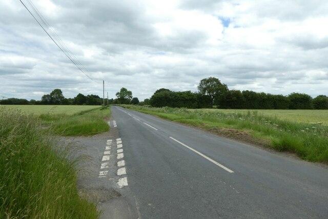 Junction on Hillam Common Lane