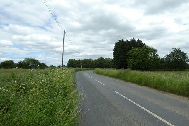 Bend in Hillam Common Lane