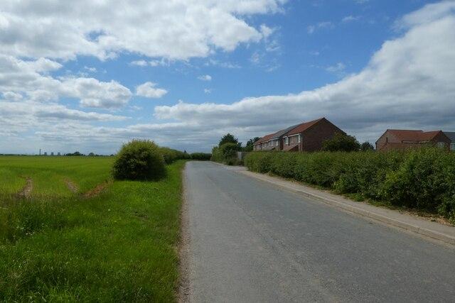 Houses backing onto Mill Lane