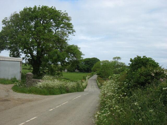 The road to Llanddona