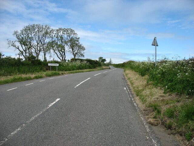 Entering Llansadwrn on the B5109