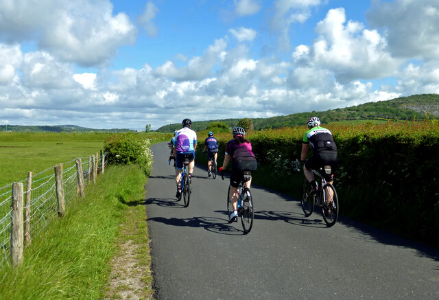 Cyclists near Carnforth