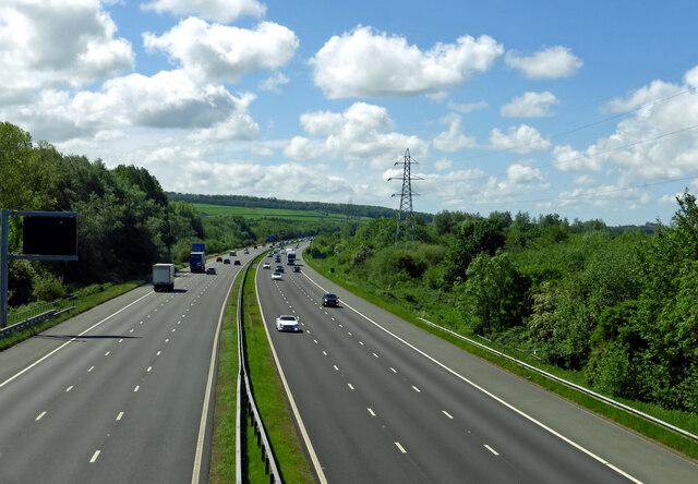M6 near Borwick